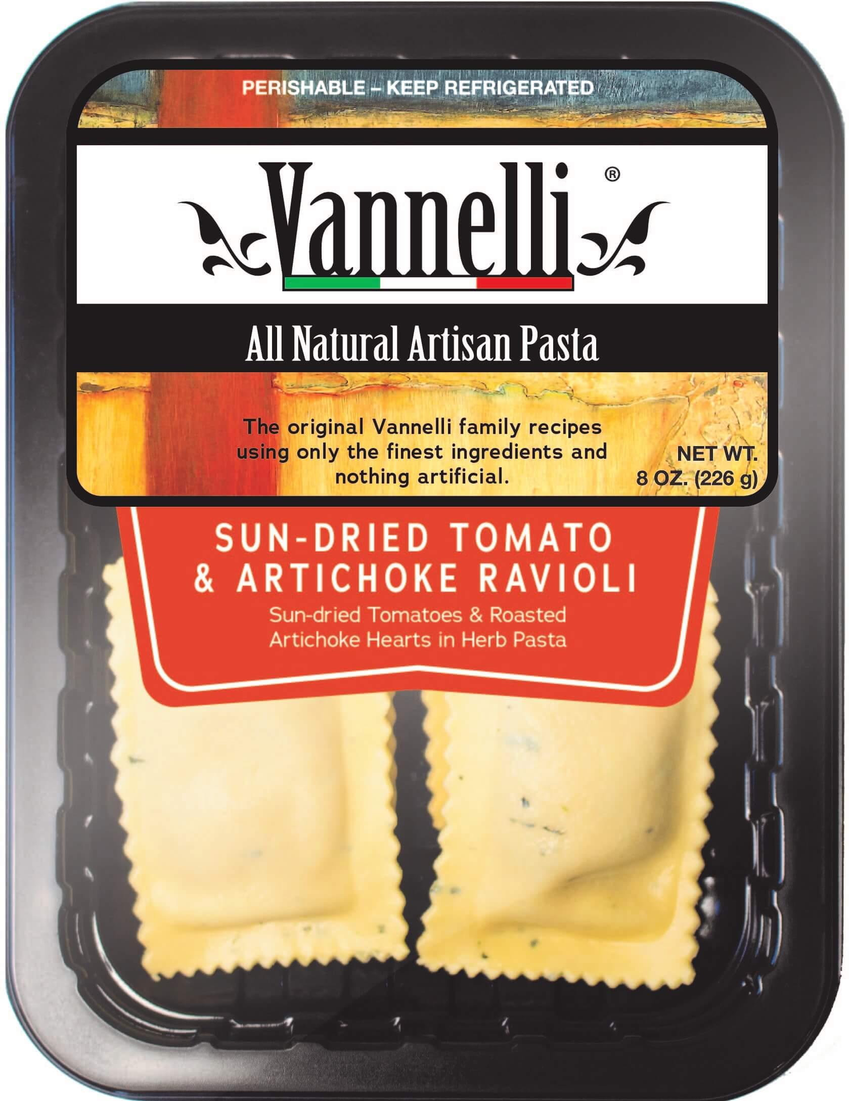 Sun Dried Tomato Artichoke Ravioli